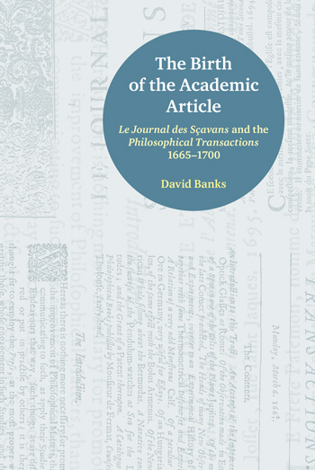 The Birth of the Academic Article