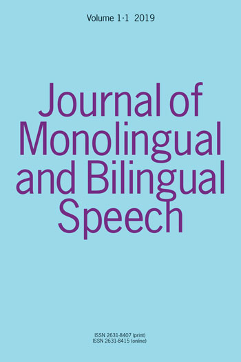 Journal of Monolingual and Bilingual Speech