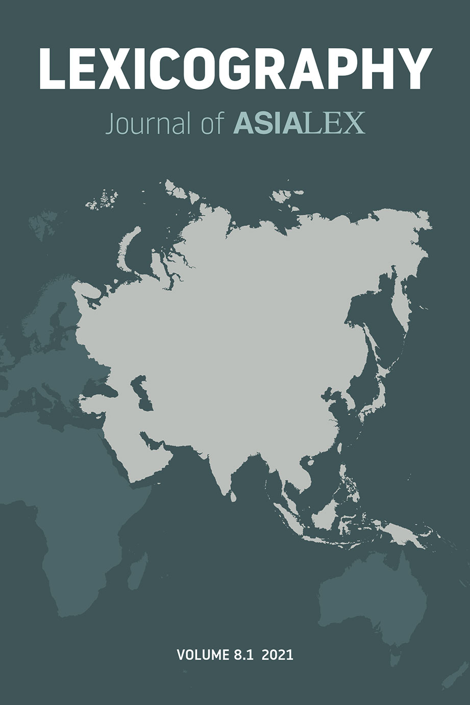 Lexicography: Journal of ASIALEX